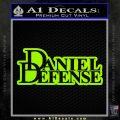 Daniel Defense D2 Decal Sticker Lime Green Vinyl 120x120