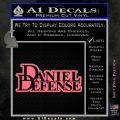 Daniel Defense D2 Decal Sticker Pink Emblem 120x120