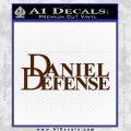 Daniel Defense Decal Sticker BROWN Vinyl 120x120