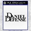 Daniel Defense Decal Sticker Black Vinyl 120x120