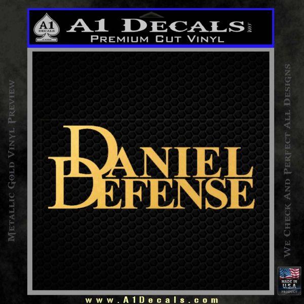 Daniel Defense Decal Sticker Gold Vinyl