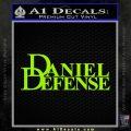 Daniel Defense Decal Sticker Lime Green Vinyl 120x120