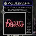 Daniel Defense Decal Sticker Pink Emblem 120x120