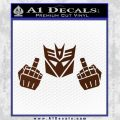 Decepticon The Fingers Decal Sticker BROWN Vinyl 120x120