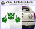 Decepticon The Fingers Decal Sticker Green Vinyl Logo 120x97