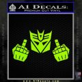 Decepticon The Fingers Decal Sticker Lime Green Vinyl 120x120