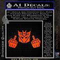 Decepticon The Fingers Decal Sticker Orange Emblem 120x120
