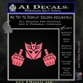 Decepticon The Fingers Decal Sticker Pink Emblem 120x120