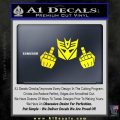 Decepticon The Fingers Decal Sticker Yellow Laptop 120x120