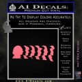 Doctor Who 11 Profiles Decal Sticker Pink Emblem 120x120