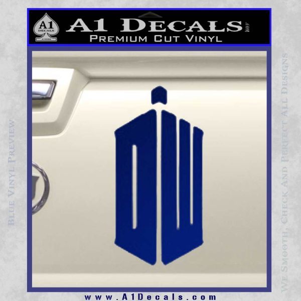 Doctor Who TARDIS Decal Sticker DW Blue Vinyl