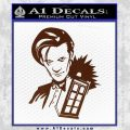 Doctor Who and TARDIS Splash Decal Sticker BROWN Vinyl 120x120