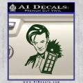 Doctor Who and TARDIS Splash Decal Sticker Dark Green Vinyl 120x120