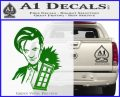 Doctor Who and TARDIS Splash Decal Sticker Green Vinyl Logo 120x97