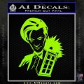 Doctor Who and TARDIS Splash Decal Sticker Lime Green Vinyl 120x120