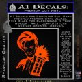 Doctor Who and TARDIS Splash Decal Sticker Orange Emblem 120x120
