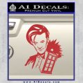 Doctor Who and TARDIS Splash Decal Sticker Red 120x120