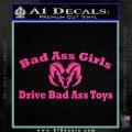 Dodge Bad Ass Girls Decal Sticker V2 Pink Hot Vinyl 120x120
