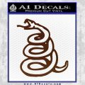 Dont Tread On Me Decal Sticker Snake BROWN Vinyl 120x120