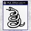 Dont Tread On Me Decal Sticker Snake Black Vinyl 120x120