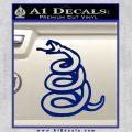 Dont Tread On Me Decal Sticker Snake Blue Vinyl 120x120