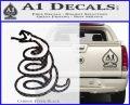 Dont Tread On Me Decal Sticker Snake Carbon FIber Black Vinyl 120x97