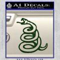 Dont Tread On Me Decal Sticker Snake Dark Green Vinyl 120x120