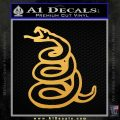 Dont Tread On Me Decal Sticker Snake Gold Vinyl 120x120