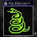 Dont Tread On Me Decal Sticker Snake Lime Green Vinyl 120x120