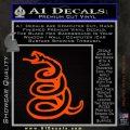 Dont Tread On Me Decal Sticker Snake Orange Emblem 120x120