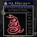 Dont Tread On Me Decal Sticker Snake Pink Emblem 120x120