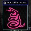Dont Tread On Me Decal Sticker Snake Pink Hot Vinyl 120x120
