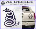 Dont Tread On Me Decal Sticker Snake PurpleEmblem Logo 120x97