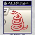 Dont Tread On Me Decal Sticker Snake Red 120x120