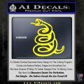 Dont Tread On Me Decal Sticker Snake Yellow Laptop 120x120