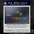 Double Tap AR 15 AK 47 Decal Sticker Glitter Sparkle 120x120