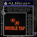 Double Tap AR 15 AK 47 Decal Sticker Orange Emblem 120x120