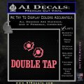Double Tap AR 15 AK 47 Decal Sticker Pink Emblem 120x120