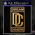 Dream Chasers Logo Meek Mill Decal Sticker Gold Vinyl 120x120
