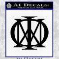 Dream Theater Decal Sticker Black Vinyl 120x120