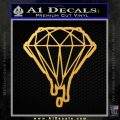Dripping Diamond D2 Decal Sticker Gold Vinyl 120x120