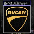 Ducati Motorcycle Decal Sticker DH Gold Vinyl 120x120