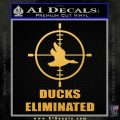 Ducks Unlimited Decal Sticker Eliminated Gold Vinyl 120x120