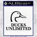 Ducks Unlimited Decal Sticker Full Black Vinyl 120x120