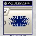 EMS Decal Sticker Wide Blue Vinyl 120x120