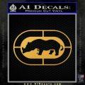 Ecko Decal Sticker Marc Unlimited Hollow Gold Vinyl 120x120