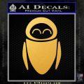 Eve from Wall e D1 Decal Sticker Gold Vinyl 120x120