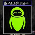 Eve from Wall e D1 Decal Sticker Lime Green Vinyl 120x120
