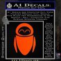 Eve from Wall e D1 Decal Sticker Orange Emblem 120x120