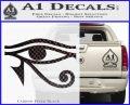Eye of Horus Decal Sticker Rah Carbon FIber Black Vinyl 120x97